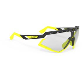 Rudy Project Defender Cykelbriller, black matte/yellow fluo - impactx photochromic 2 laser black